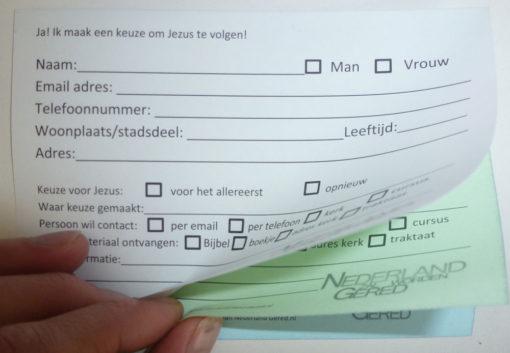 Beslissingskaart doordrukvel 2 - nazorgmateriaal - Nederland Gered
