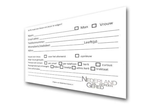 Beslissingskaart voorkant - nazorgmateriaal - Nederland Gered