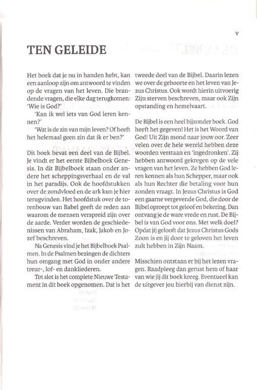 Bijbel 'De Levensbron' pag. V