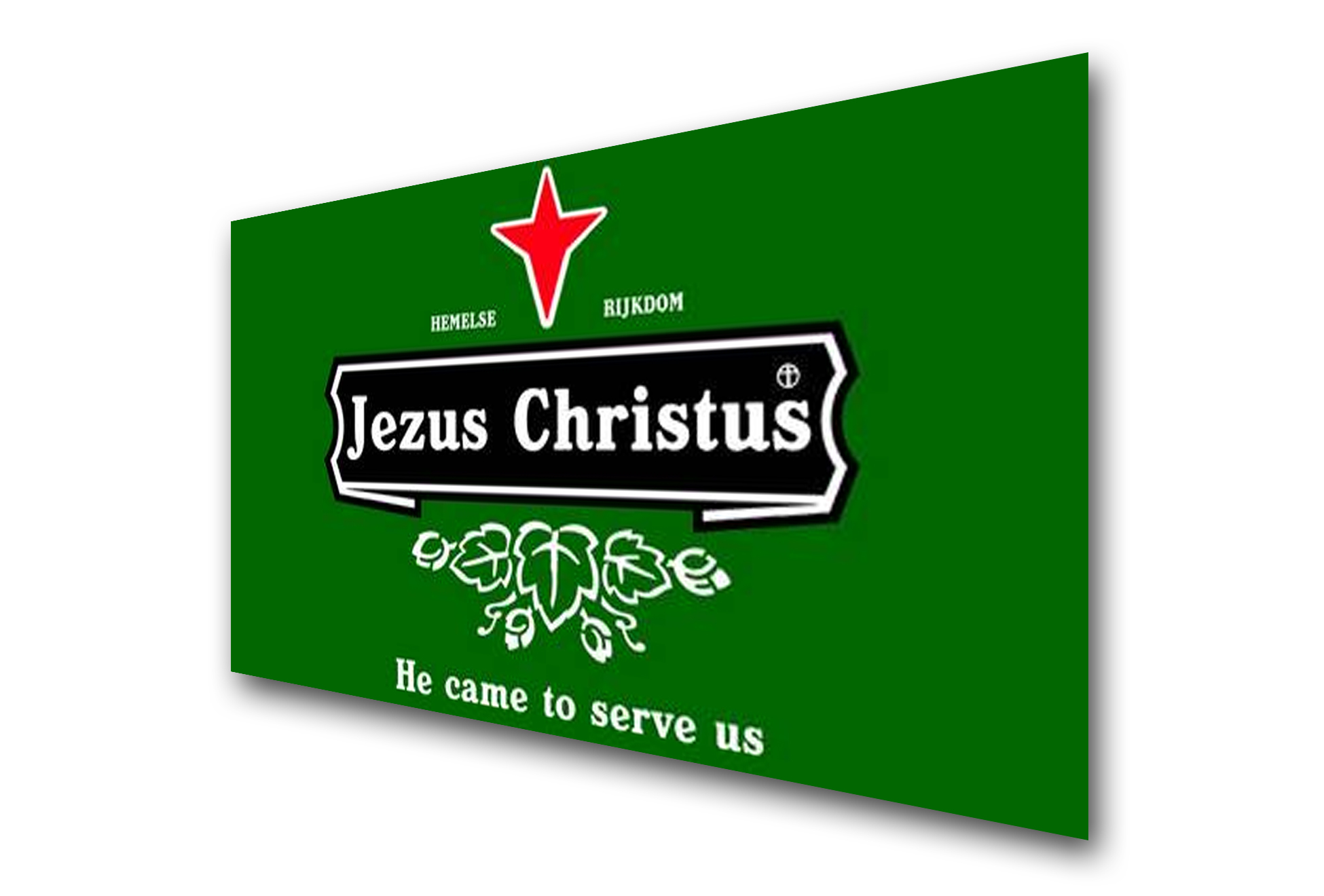 Jezus-Christus-he-came-to-serve-us-Heineken-evangelisatiemateriaal