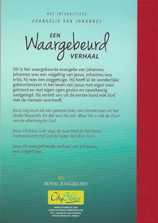 Johannes Evangelie - Een waargebeurd verhaal - achterkant - Evangelisatie-Materiaal.nl
