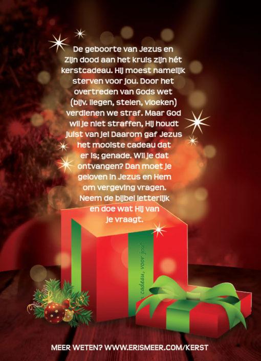 Kerst traktaat - Van harte gefeliciteerd - (achterkant)