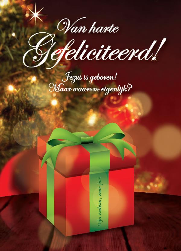 Kerst traktaat - Van harte gefeliciteerd - (voorkant)
