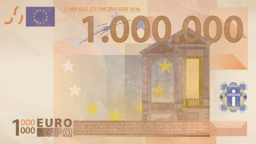 Miljoen Euro Biljet voorkant 2016