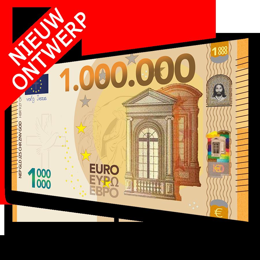Miljoen Euro BIljet 2018 NIEUW ontwerp - Evangelisatie-Materiaal.nl
