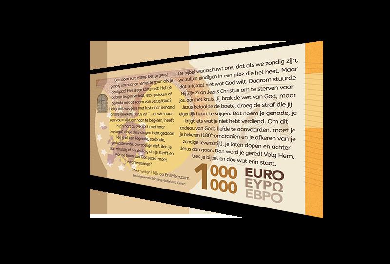 Miljoen Euro BIljet 2020 actherkant p - Evangelisatie-Materiaal.nl