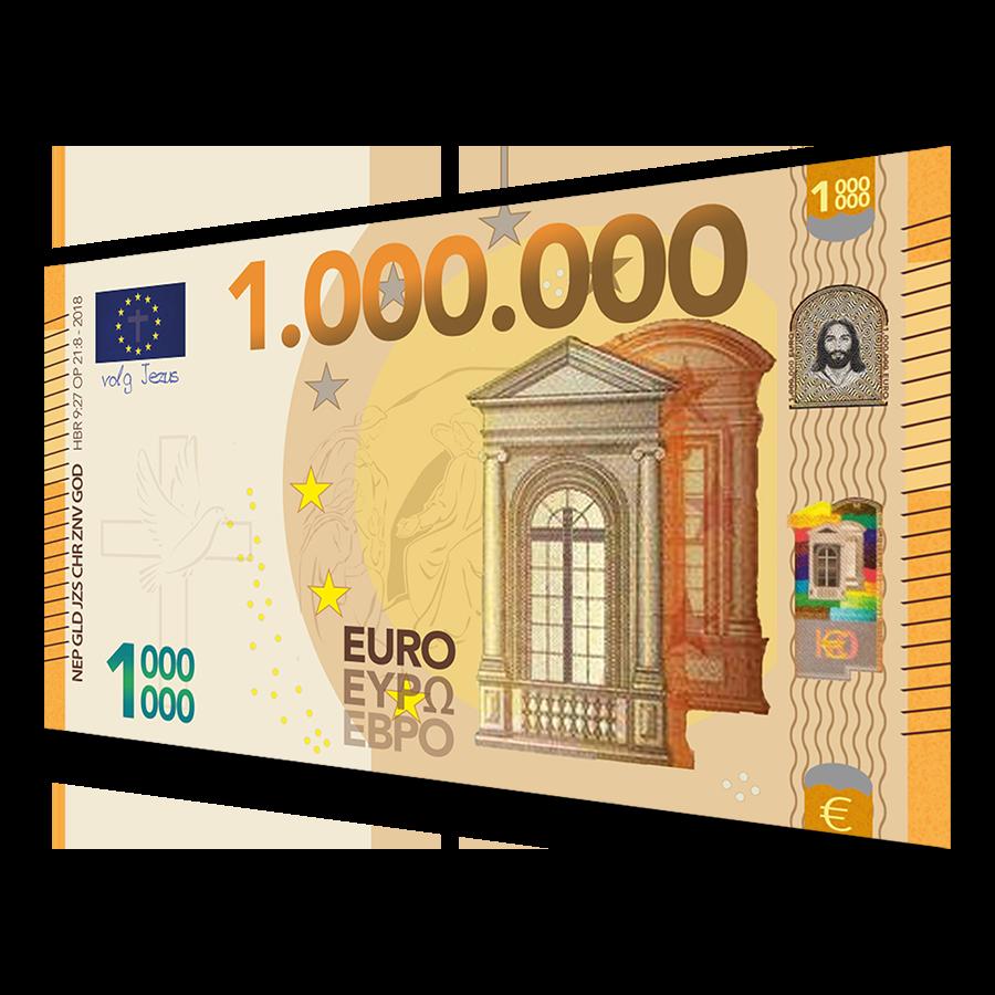 Miljoen Euro BIljet - Evangelisatie-Materiaal.nl