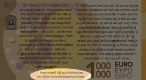 Miljoen Euro Biljet - 2018 achterkant onderaan uitgelicht - evangelisatie-materiaal.nl