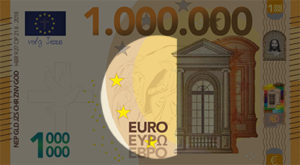 Miljoen Euro Biljet - 2018 voorkant midden uitgelicht - evangelisatie-materiaal.nl