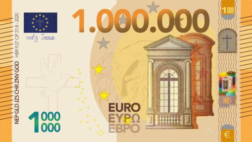 Miljoen Euro Biljet 2020 Voorkant