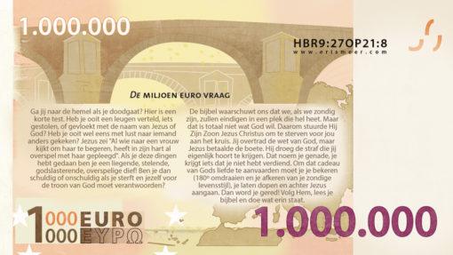 Miljoen euro biljet achterkant Evangelisatie-Materiaal.nl 2016