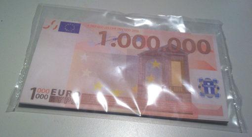 Miljoen euro biljet gesealed - Evangelisatie-Materiaal