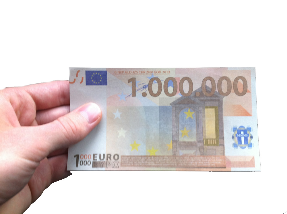 Miljoen euro biljet traktaat (vastgehouden)
