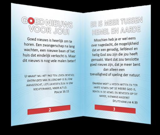 Miniboekje evangelisatie - Goed Nieuws - Evangelisatie-materiaal.nl - Pagina 2-3
