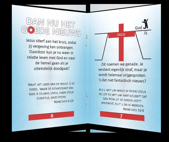 Miniboekje evangelisatie - Goed Nieuws - Evangelisatie-materiaal.nl - Pagina 6-7
