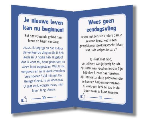 Miniboekje evangelisatie - Jezus vindt jou leuk - Evangelisatie-materiaal.nl - Pagina 10-11