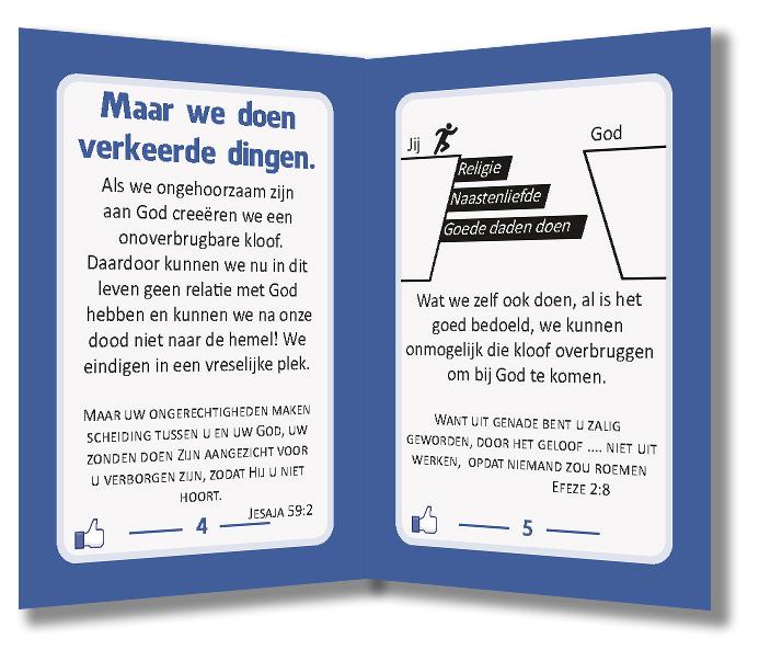 Miniboekje evangelisatie - Jezus vindt jou leuk - Evangelisatie-materiaal.nl - Pagina 4-5