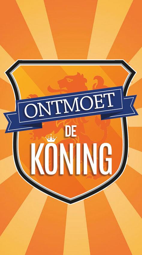 Ontmoet de Koning - Koningsdag - voorkant - Evangelisatie-Materiaal.nl