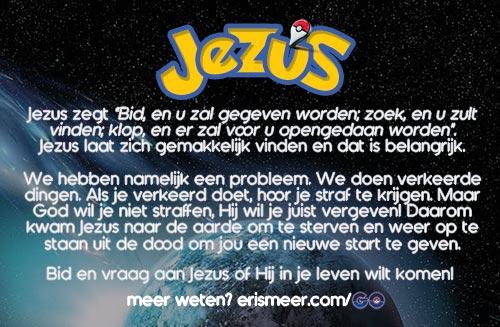Pokémon Go - evangelisatie-materiaal.nl - Jezus laat zich makkelijk vinden (achterkant)